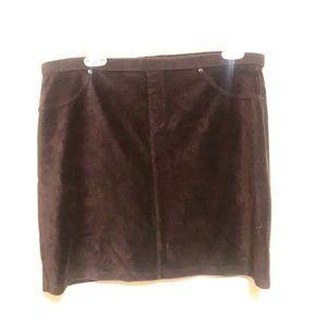 Corduroy like skirt. Stretchy and comfortable.